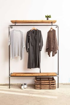 our new # wardrobe is a real eye-catcher . - our new is a real eye-catcher wood - Diy Wardrobe, Wardrobe Design, Wardrobe Rack, Diy Home Decor, Room Decor, Recycled Wood, Diy Storage, Stores, Interiores Design