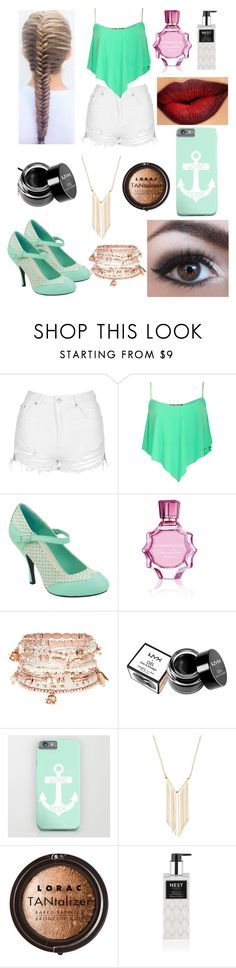 """minty"" by melanie-angeline-eats-nutella ❤ liked on Polyvore featuring beauty, Topshop, Pilot, T.U.K., Oscar de la Renta, Accessorize, NYX, Gemelli, LORAC and Nest Fragrances"