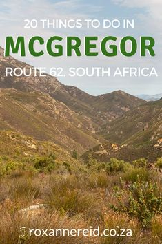 It may be a peaceful little village, but that doesn't mean there's nothing to do. Here are 20 things to do in McGregor in Robertson valley. African Vacation, Stuff To Do, Things To Do, All About Africa, Wildlife Safari, Slow Travel, Kruger National Park, Africa Travel, Wine Tasting