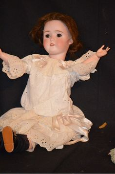 """Antique Bisque Doll """"MY GIRLIE"""" Beautiful Germany"""