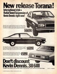 Holden Muscle Cars, Aussie Muscle Cars, Australian Vintage, Australian Cars, Poster Ads, Car Posters, Holden Torana, Holden Australia, Dennis
