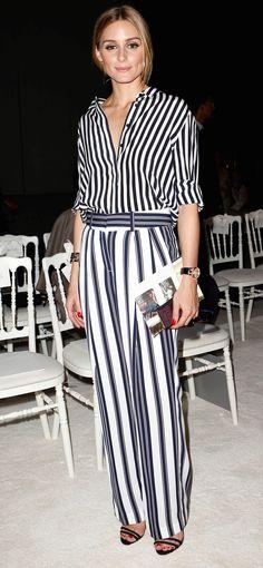 Olivia Palermo at Giambattista Valli's Fall 2015 Couture show in Paris.