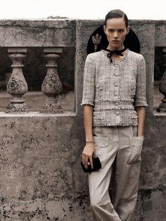 Freja Beha Erichsen - Chanel advertisement -phtographed by Karl Lagerfeld.