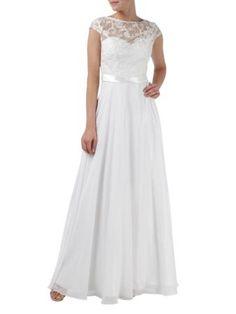 LUXUAR Abendkleid mit Spitze in Weiß online kaufen (9488552)   FASHION ID Online Shop