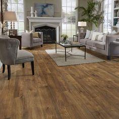 Mannington Restoration Wide Plank 8'' x 51'' x 12mm Hickory Laminate Flooring in Ember