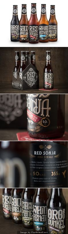 tipografia/lettering Stannis Beer by Firmorama Design Studio Beverage Packaging, Bottle Packaging, Brand Packaging, Craft Beer Labels, Beer Label Design, Beer Brands, Design Poster, Buy Beer, Bottle Design