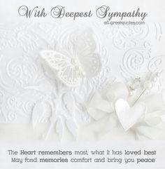 . Sympathy Messages, Sympathy Quotes, Sympathy Cards, Family Poems, Family Quotes, Deepest Sympathy, Card Sentiments, Condolences, Message Card