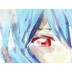 Neon Genesis Evangelion Anime Ayanami Rei Washed Portrait signed... ($10) ❤ liked on Polyvore featuring home, home decor, wall art, neon home decor, animal wall art, giclee wall art and neon wall art