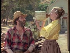 Little House in the Prairie-Grace and Mr. Edwards.