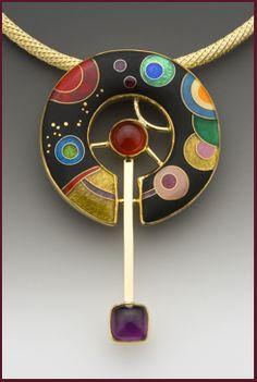 Anna Tai: Galaxy: Enamel pendant Incredible enameling skills