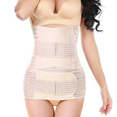 Postpartum Belly 3 in 1 Wrap C-Section Recovery Belt Post Pregnancy Belly Support Belt Shapewear for Women Yellow White Pink