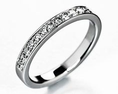 Wedding band or engagement ring with diamonds. by KorusDesign