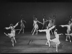 "Dancers Peter Martins and Suzanne Farrell in the NYC Ballet Production of ""Chaconne"""