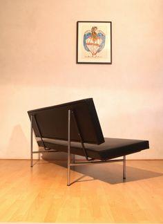 Andre Cordemeyer; #1712 Chromed Steel Sofa for Gispen, 1958.