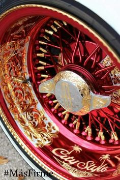 Lowrider engraved wheels