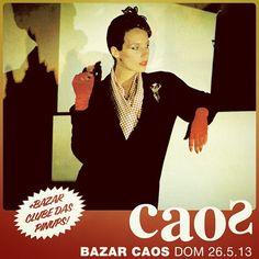 Domingo! Hoje tem #bazar #Caos + Clube das Pinups a partir das 14h no Caos (rua Augusta 584). São mais de 20 vendedores, entrada grátis.