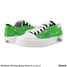 Raindrops Closeup, Spacey Green Low-Top Sneakers - 20% Off with code SUMMERTIME60 from ZoeSPEAK