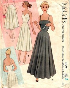 1950s McCall's 8521 Vintage Sewing Pattern Misses Full