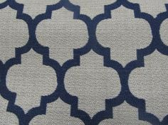 pillow accent fabric; DASH in admiral navy designer woven fabric by reneesfabrics