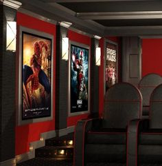 Decorative Acoustic Panels featuring original art, movie poster reproductions, space themes and more. Experienced Designers having worked on over 900 theaters.