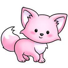 pink kitty :D Pretty Drawings, Kawaii Drawings, Easy Drawings, Cute Cartoon Animals, Cute Animals, Animal Paintings, Animal Drawings, Cute Images, Cute Pictures