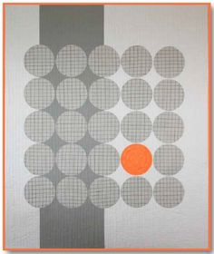 very minimalist modern quilt making use of the golden ratio with that one orange dot