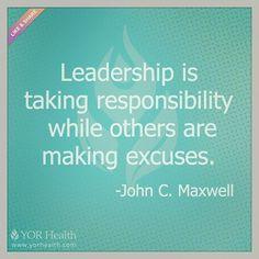 #Leadership is… (at YOR Health)