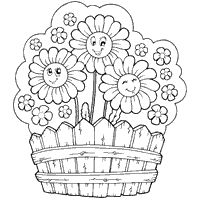 Flowering Fence - Coloring Pages
