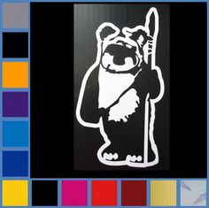 Hey, I found this really awesome Etsy listing at https://www.etsy.com/listing/179879733/star-wars-ewok-decal-sticker-choice-of