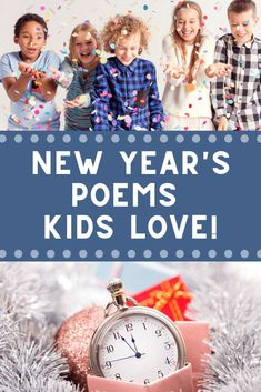 Start a new year tradition with these New Year's Eve and New Year's Day poems for kids and families. Start the year out smart! Poetry Books For Kids, Best Children Books, Childrens Books, New Years Traditions, Family Traditions, Educational Activities For Toddlers, Winter Activities, Fun Activities, New Year Poem