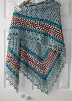 Nordic #shawl I love the colors! #crochet