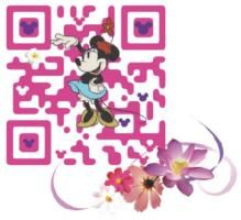 "Cute QR code for Disney Mobile. North America should learn how to use QR codes, and that is to answer the question ""what's in it for me"" to the consumer."