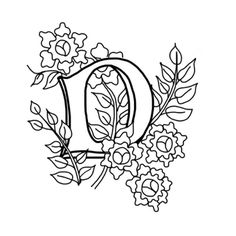 Letter D (large size)  to color or mod as you wish