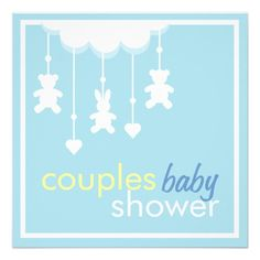 Sweet Boy Mobile Couples Baby Shower Invitation