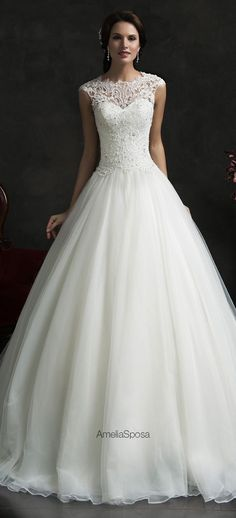 Amelia Sposa 2015 Wedding Dress - Monica......beautiful ....tired of all the strapless gowns