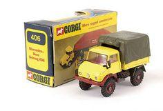 Mettoy Corgi diecast No.406 Mercedes Benz Unimog 406 Toy Model Cars, Diecast Model Cars, Mercedes Benz Unimog, Corgi Toys, Metal Toys, Cool Trucks, Old Toys, Toys For Boys, Vintage Toys