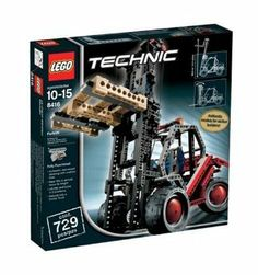 LEGO Technic Forklift by LEGO. $188.88. Tilting, telescoping mast; authentic rear-wheel steering. Builds either a rugged forklift or forest truck. Reach new heights with a functional Lego forklift. Includes assembly instructions for both machines. Amazon.com Reach new heights with a functional Lego forklift. With the advanced Lego Technic line, skilled builders no longer need rely on their imaginations to drive their creations--Lego helps them build...
