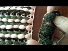 Örgü fıstıklı zincir işi - YouTube