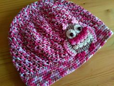 Čepka se sovičkou / Crochet owl beannie Owl, Crochet Hats, Beanie, Fashion, Knitting Hats, Moda, Fashion Styles, Owls, Beanies