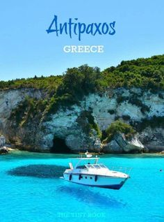Antipaxos, the stunning blues of the Ionian Sea. Greece
