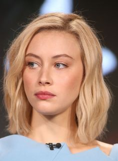 Actress Sarah Gadon speaks onstage during the 11.22.63 panel as part of the hulu portion of the 2016 Television Critics Association Winter Tour at Langham Hotel on January 9, 2016 in Pasadena, California