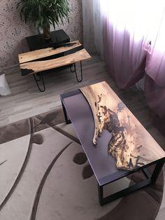 Diy Resin Table, Epoxy Wood Table, Epoxy Resin Wood, Diy Resin Art, Diy Resin Crafts, Wood Crafts, Live Edge Furniture, Resin Furniture, Furniture Projects