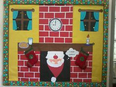 Santa bulletin board idea