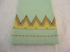 Vintage Huck Guest Towel with Swedish by preservinghome on Etsy, 6.00