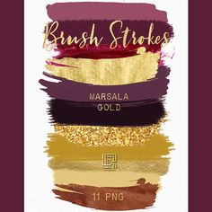 Brush Strokes Clip Art. Marsala collection. Burgundy red 49cd8f0d9