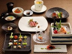 """Traditional Japanese cuisine """"KAISEKI"""" which is selected carefully local seasonal ingrediens by head chef."""