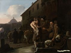 Clothing the naked Artwork by Michael Sweerts Hand-painted and Art Prints on canvas for sale,you can custom the size and frame