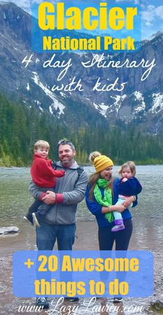 Things to do in Glacier National Park day Itinerary with kids) Needing tips for your Glacier National Park roadtrip? My husband and I spent 4 days exploring the area with our 2 tiny travelers. Here's the top must-see spots! West Glacier, Glacier Park, Glacier National Park Montana, Yellowstone National Park, Alaska Travel, Travel Usa, Alaska Cruise, Travel Tips, Architecture Design
