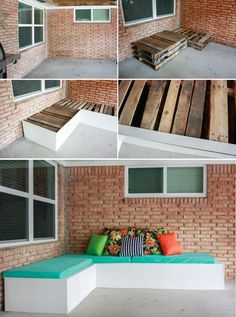 How to make a DIY Outdoor Couch! An inexpensive pallet project - around $100 thanks to our MONEY SAVING TRICK!