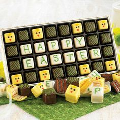 Happy Easter Petits Fours from Figi's - hand decorated and delicious; these little cakes are too cute!